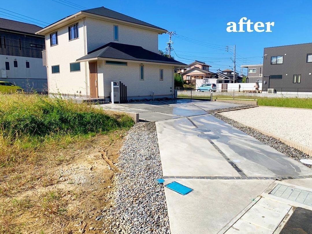 東浦町 I様邸 竣工写真 広々とした駐車場スペース